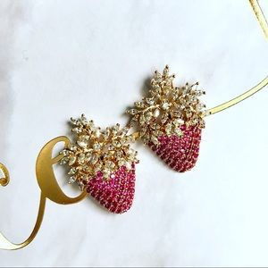 18k Gold Plated Strawberry earrings